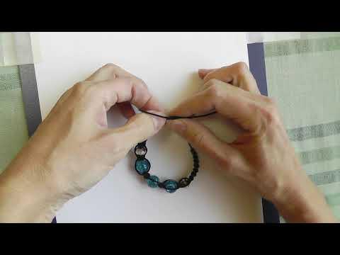 Как завязать браслет из веревки с регулирующей длиной