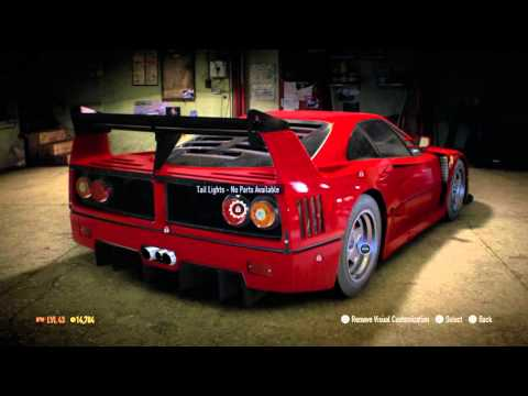 Need For Speed 2015 Customization (Ferrari F40)