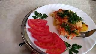 Картофель с куриной грудкой и болгарским перцем