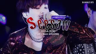 [3D+BASS BOOSTED] BTS (방탄소년단) SUGA - TRIVIA (轉) : SEESAW | bumble.bts