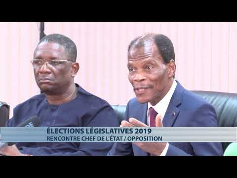 Législatives 2019 : échanges entre Patrice Talon et les représentants de l'opposition
