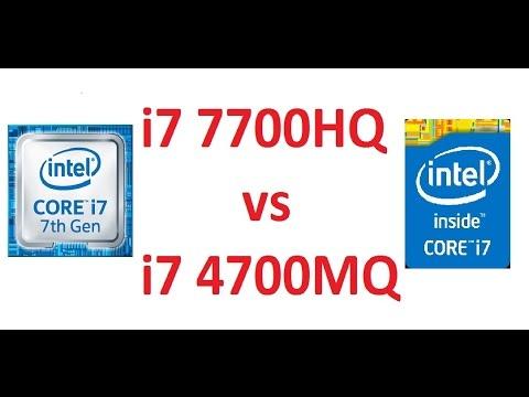 i7 7700HQ vs i7 4700MQ CPU-Z Details and Benchmark