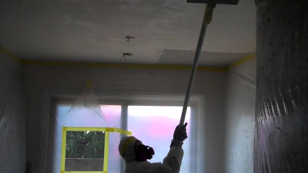 Asbestos acoustic ceiling removal youtube dailygadgetfo Images