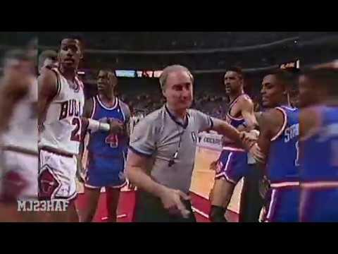 Scottie Pippen Fights Kenny Walker! Both Ejected! (1989 ECSF G6)