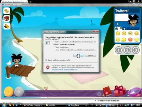 usar autoclick 2.2 para www.BoomBang.tv