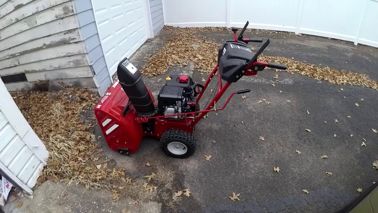 Snowblower Troy built startup OHV problem won't start help