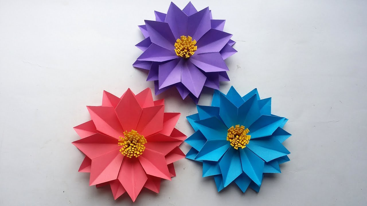 Diy Paper Flower How To Make Easy Beautiful Paper Flower