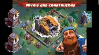 Níveis das Construções na Vila do Construtor Clash of Clans