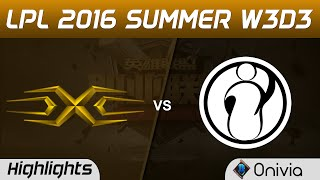 SS vs IG Highlights Game 1 Tencent LPL Summer 2016 W3D3 Snake vs Invictus