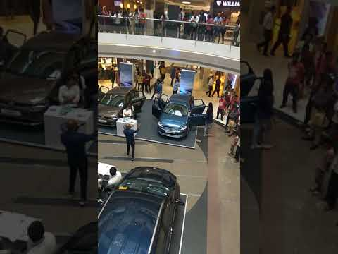 Selfie contest with Car at Forum mall, Bangalore