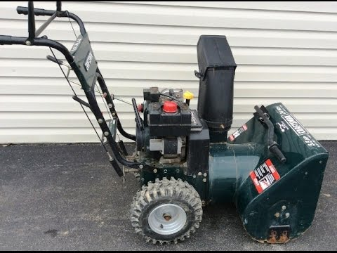 Snow Blower 24 >> Craftsman 24 Inch Wide 5 1 2 Hp Snowblower Youtube