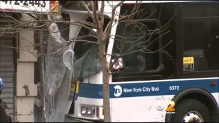 5 Hurt After Mta Bus Crashes Into Pizzeria In Washington Heights