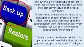 I 28 - Drupal Website Back up