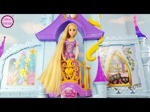 Rapunzel en el Castillo Mágico de las Princesas Disney Unboxing del juguete  para niños