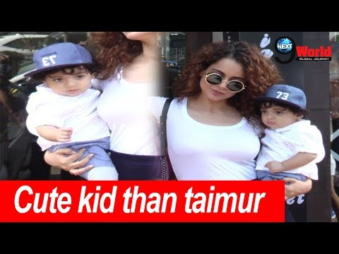 EXCLUSIVE!! Kangana Ranaut With Cute Nephew Spotted At Bastian Restaurant, Inside Video