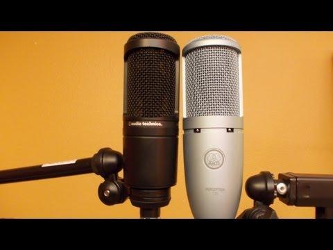 The Audio-Technica AT2020 vs the AKG Perception 120 sound comparison