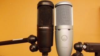 The Audio-Technica AT2020 vs the AKG Perception 120 sound comparison