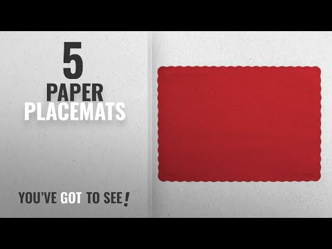 Best Paper Placemats [2018]: Creative Converting 50 Count Touch of Color Paper Placemats, Classic