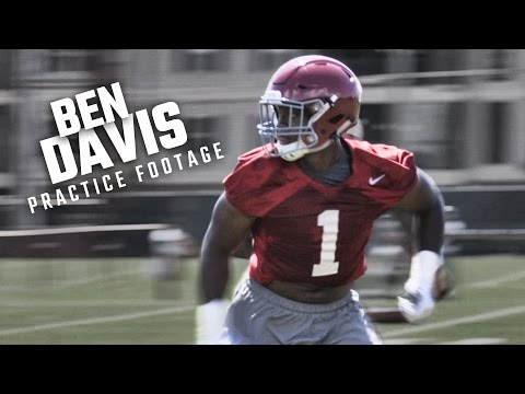 Watch Ben Davis run drills during Alabama's opening day of fall camp