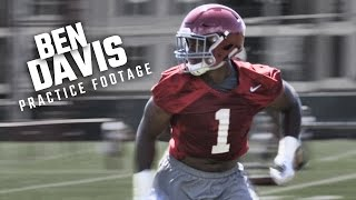 Watch Ben Davis run drills during Alabama's opening day of fall camp