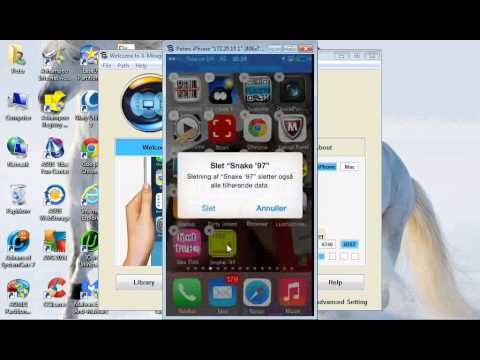 hvordan man fjerner en iPhone app (skulle være det samme for iPad)