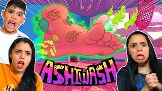 JOGO DO PEZÃO NOJENTO !! (ASHI WASH) - BIG FOOT DISGUSTING GAME