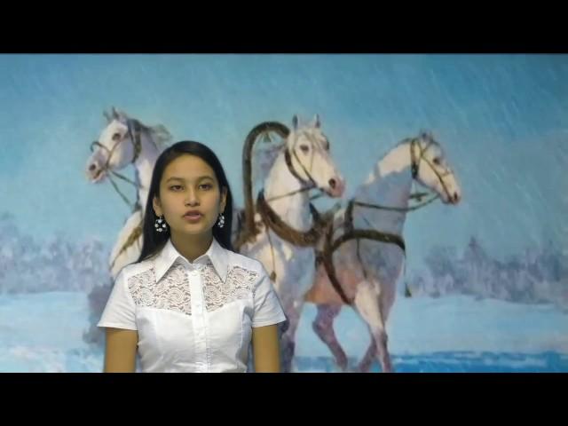 Изображение предпросмотра прочтения – ЛидияБакирова читает произведение «Зимняя дорога» А.С.Пушкина