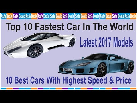 Top 10 Fastest Car In The World. Best Cars With Highest Speed & Price