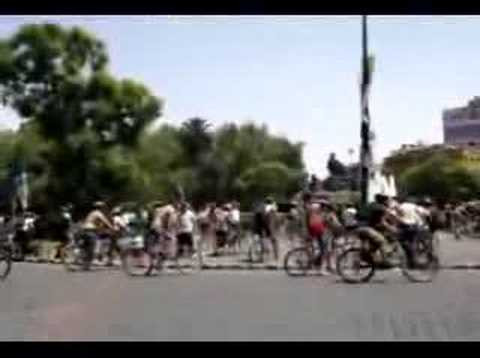 Rodada Ciclistas Worldnakedbikeride Mexico 2006