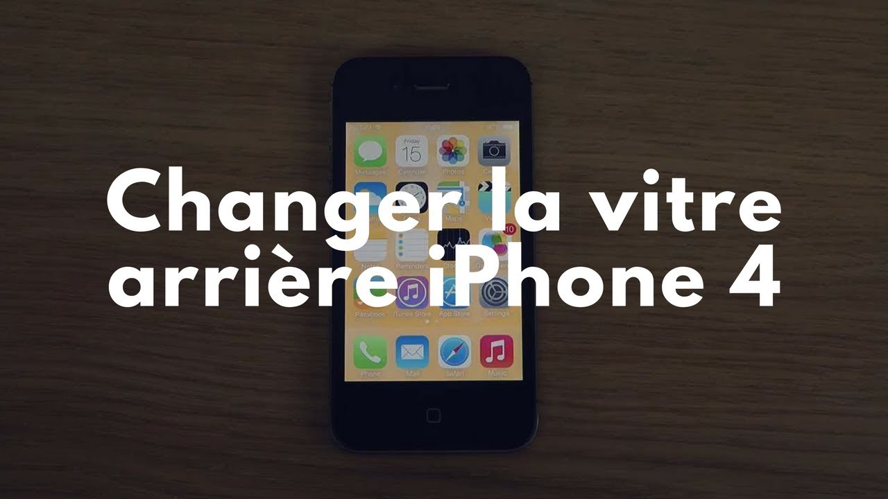 changer la vitre arri re iphone 4 youtube. Black Bedroom Furniture Sets. Home Design Ideas