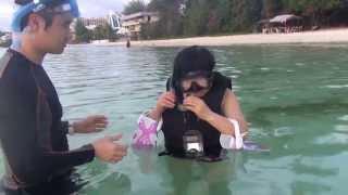 이순자  괌 스노쿨링연습(1)snorkeling starting  in guam