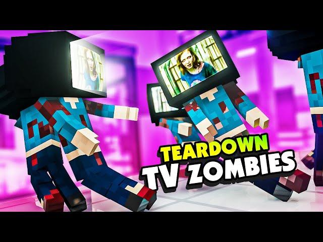 I Slayed TV HEAD Zombies in the TEARDOWN MALL - Teardown Mods