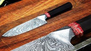 Knife Making - Integral Damascus Japanese style knife