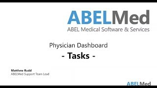 Physician Dashboard - Tasks