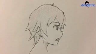 Anime Yüz Çizimi 2 / How To Draw Anime Male Face 2