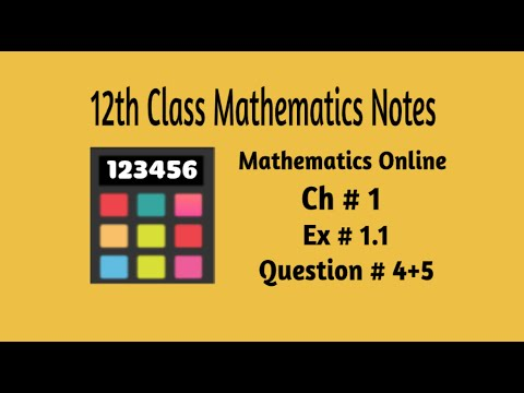 2nd Year (12 Class) Maths Notes PTB Ch # 1 Ex # 1 1 Q # (4+5) (Functions  and Limits)