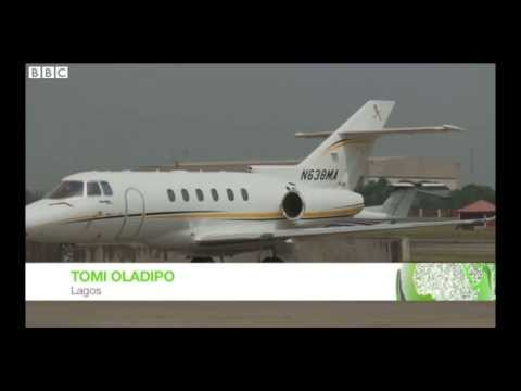 Inside a Nigerian private jet
