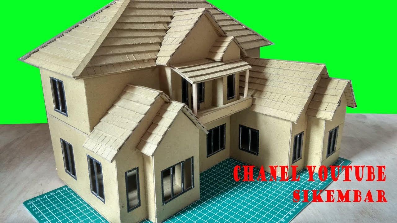 Desain Denah Rumah: Desain Miniatur Rumah Dari Kertas Karton