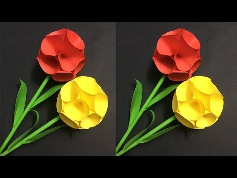 Diy paper craftss how to make easy paper flower making paper how to make round paper flower making paper flowers step by step diy paper crafts mightylinksfo