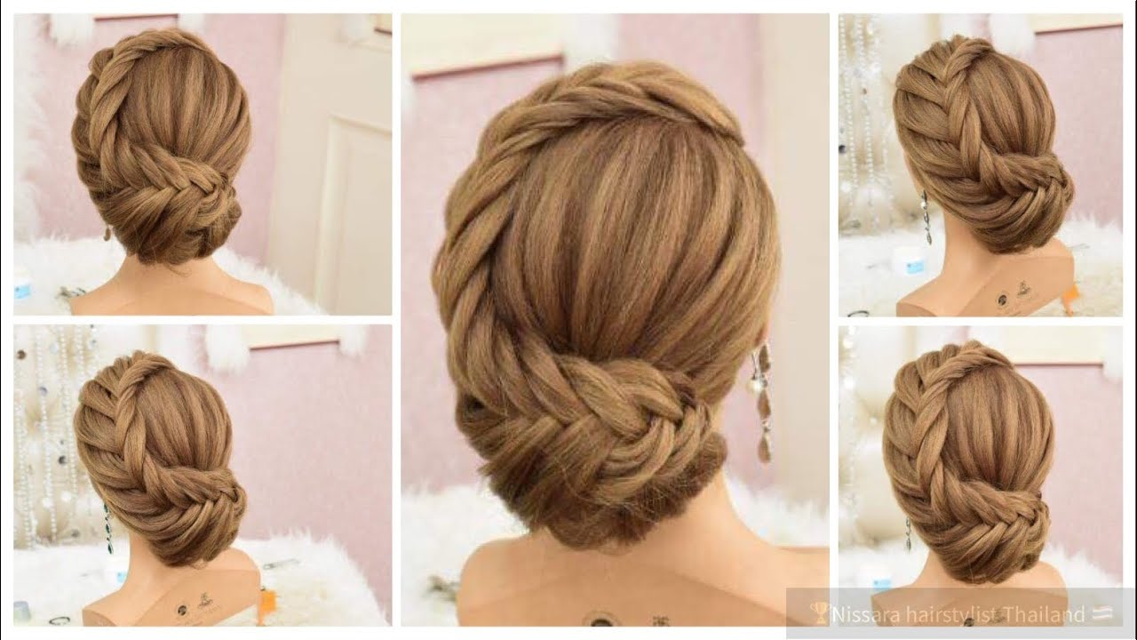 Easy Hair Gorgeous Wedding Hairstyles Updo Messy Curl Braids Tutorial Hairdo Bride