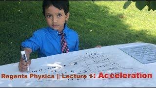 Regents Physics # 1 : Acceleration by Soborno Isaac