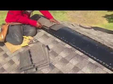 How To Install Ridge Vents Texan Roofing 281 391 9600 Youtube