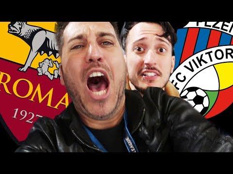 ROMA vs VIKTORIA PLZEN 5 - 0 REACTION Champions DALLO STADIO OLIMPICO - w/ ilvostrocarodexter