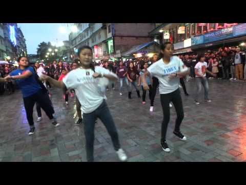 FLASH MOB BY TIBETAN YOUNG STARS  AT GANGTOK MG MARG