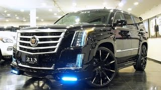 Custom Cadillac Escalades on Lexani Wheels Next Nation Body Kits