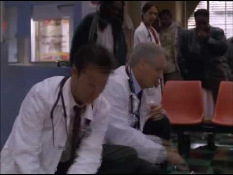 Noah Wyle as Carter - bloopers from season 6