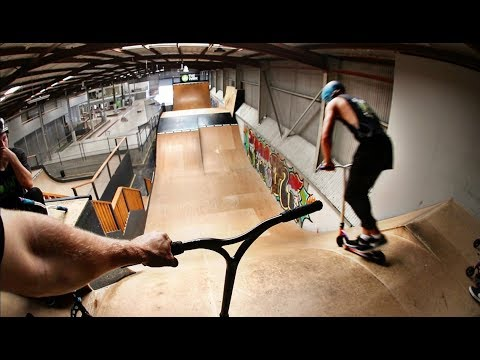 PRO SCOOTER RIDERS Vs. MINI MEGA RAMP!