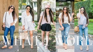 WHAT I WORE - 12 Cute Outfits for Spring/Summer | LuxMommy