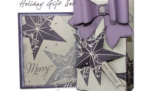 3-d Christmas Star Gift Set Featuring Stampin Up