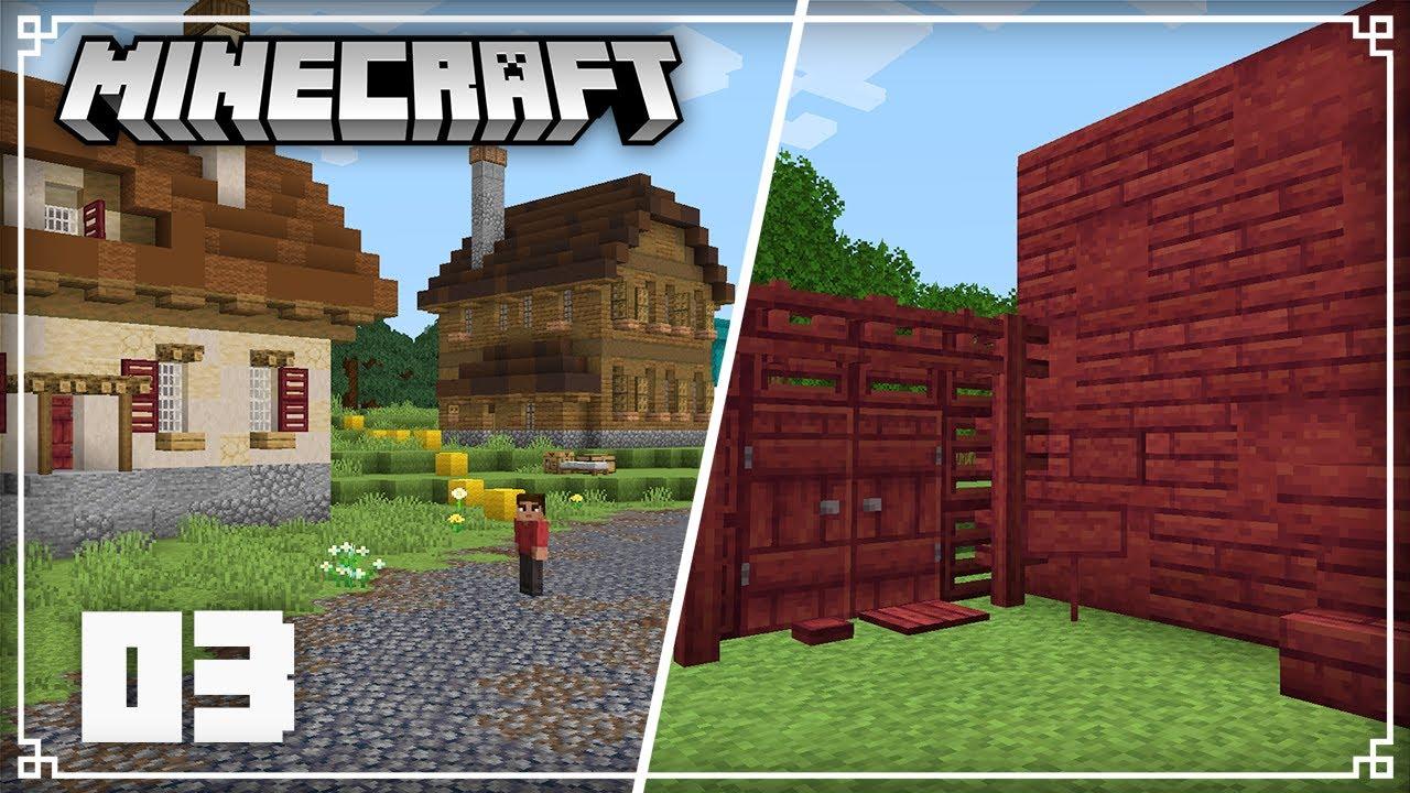 Expanding the Village & New Crimson Wood!   Minecraft 1.16 Survival Lets Play   Episode 3